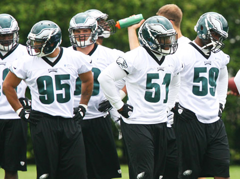 Eagles LBs at OTAs